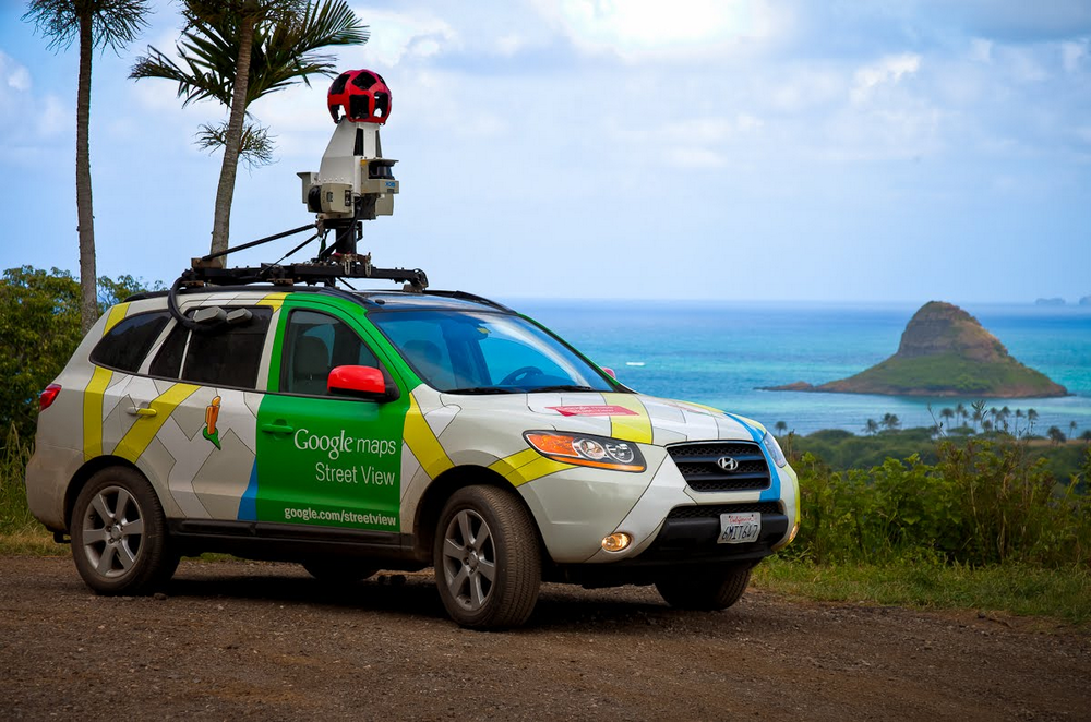 Street View car in Oahu