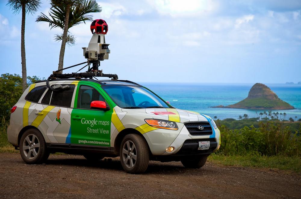 Street View car in Oahu