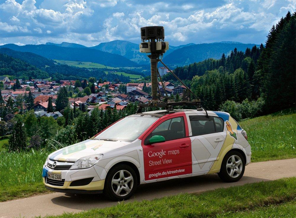 Ein Bild des Street View Autos