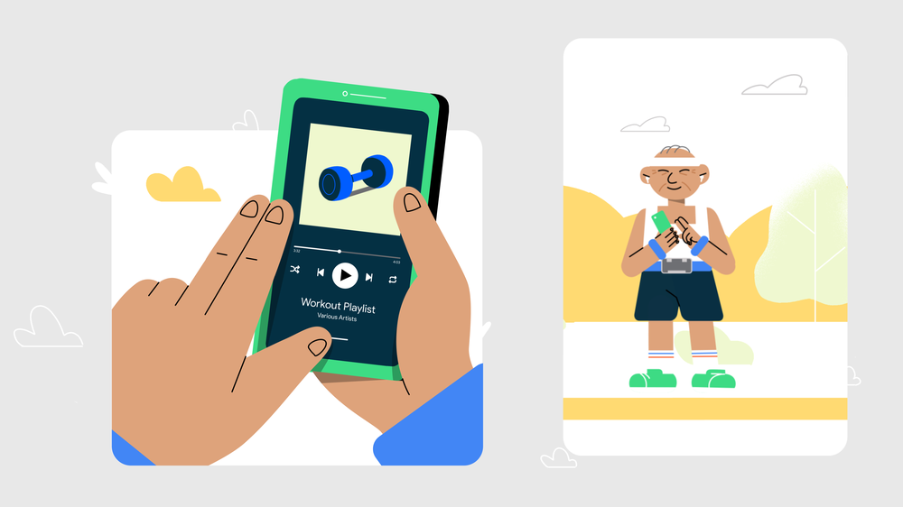 Start and stop media with Talkback gestures