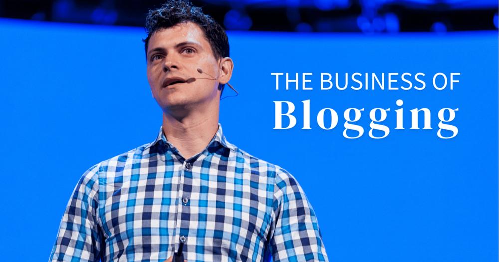 Matt speaking at a blogging conference