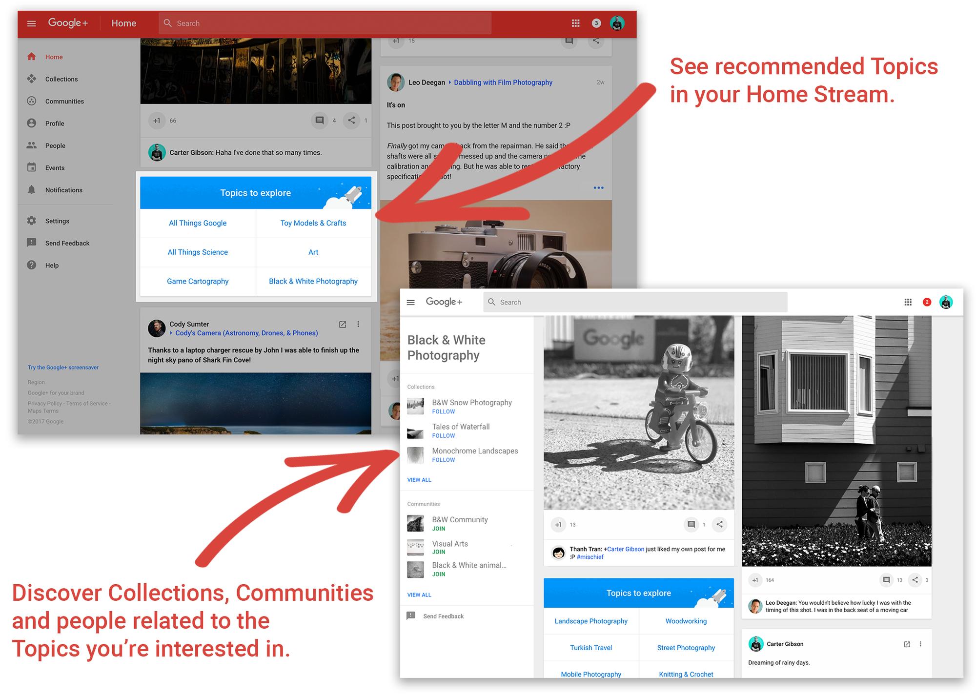 Google+ Topics