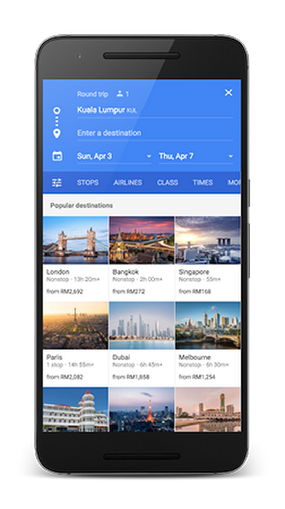 Google Flights Malaysia on Mobile Phone