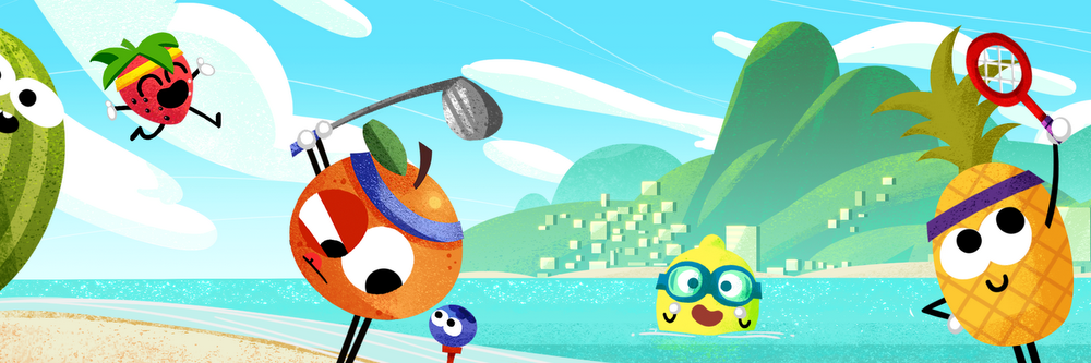 Go bananas for the 2016 Doodle Fruit Games