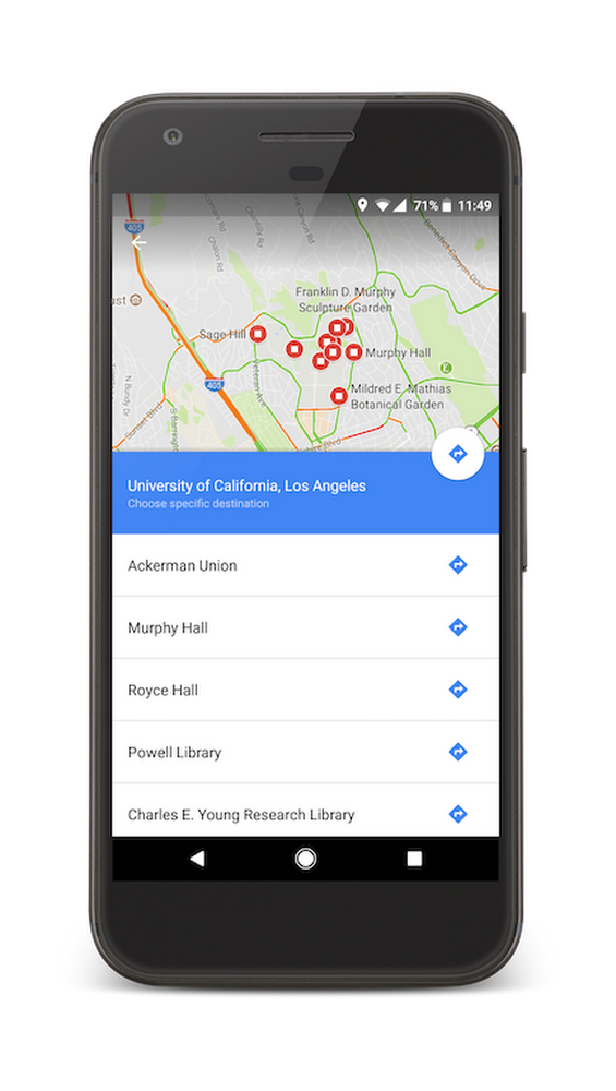 Explore your new campus with Google Maps on