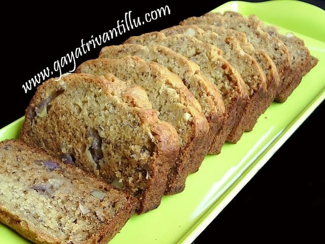 Indian Recipes - Valentines' Special - Eggless Banana Cake - Andhra Telugu Vegetarian Food