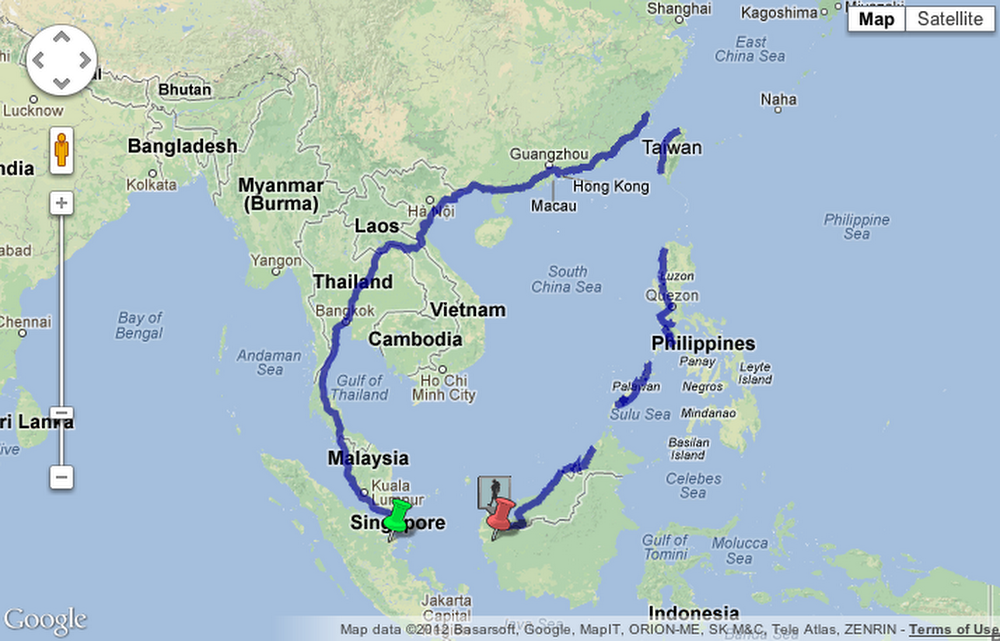 Google Map Of Asia.Something To Smile About A 5 000 Mile Walk Across Asia Guided By