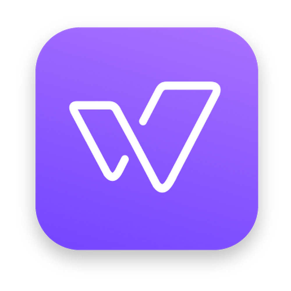 "The Wisdo logo with a purple background and ""w"" in the center."