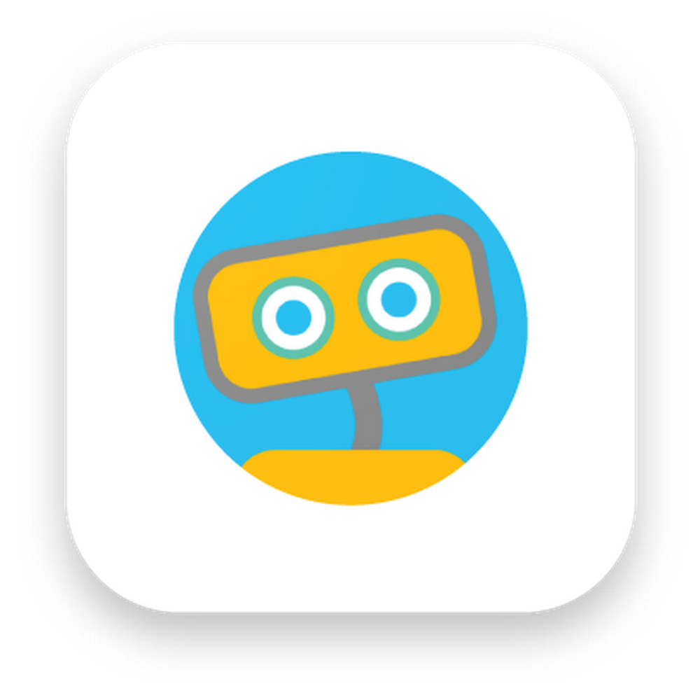 The Woebot app logo, which features a yellow robot on a blue background.