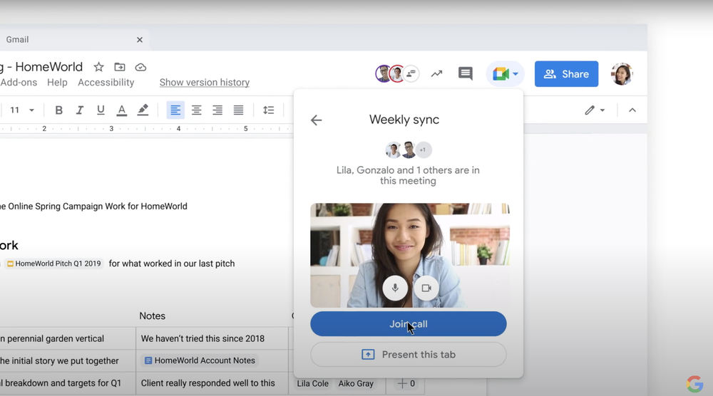 A video introducing smart canvas, a new product experience for Google Workspace