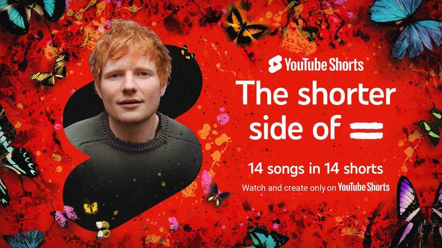 "Ed Sheeran shares sneak peek of ""="" album only on YouTube Shorts"