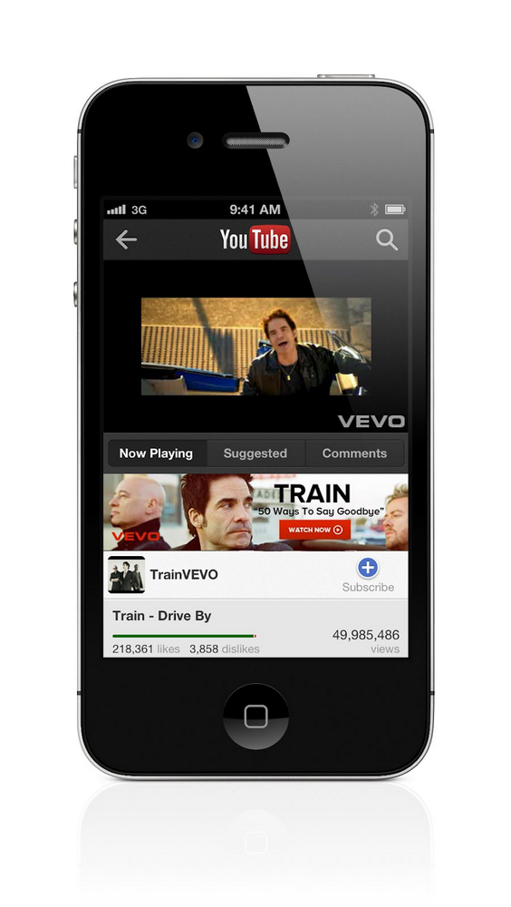 YouTube app screenshot