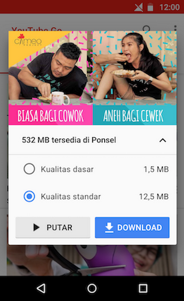 YouTube Go in Indonesia