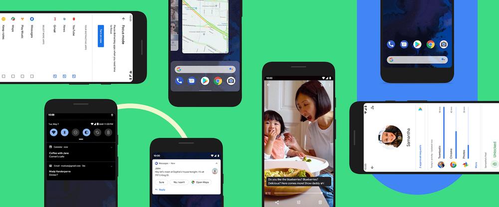 Collage verschiedener Android Phones