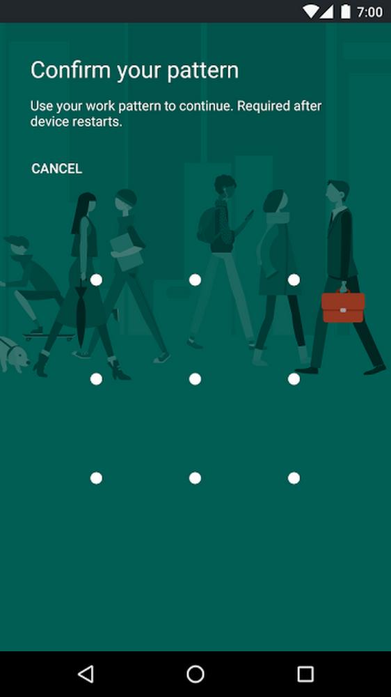 Android pattern unlock