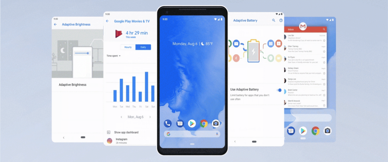Android 9 Pie: Powered by AI for a smarter, simpler experience that adapts to you