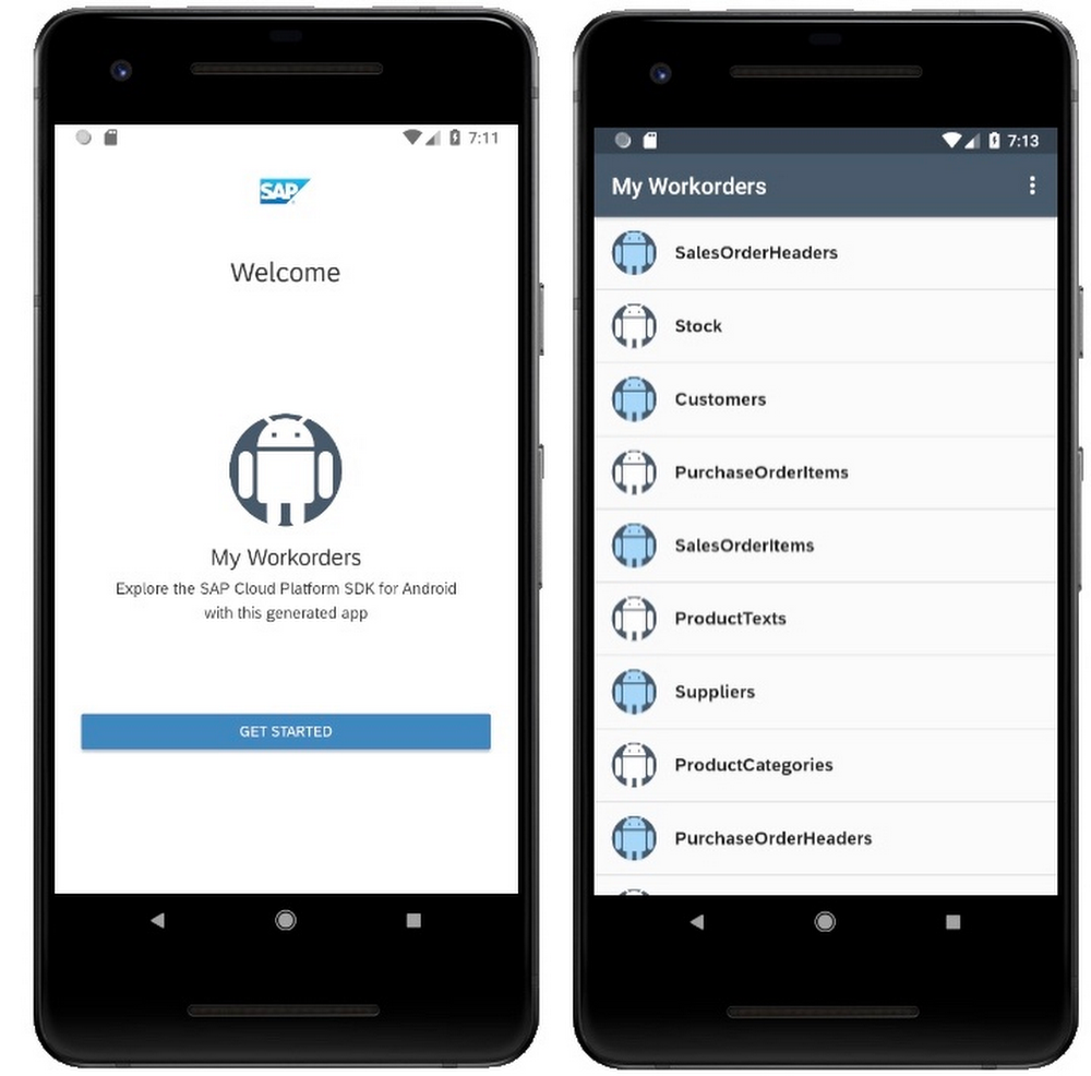 Android SAP app