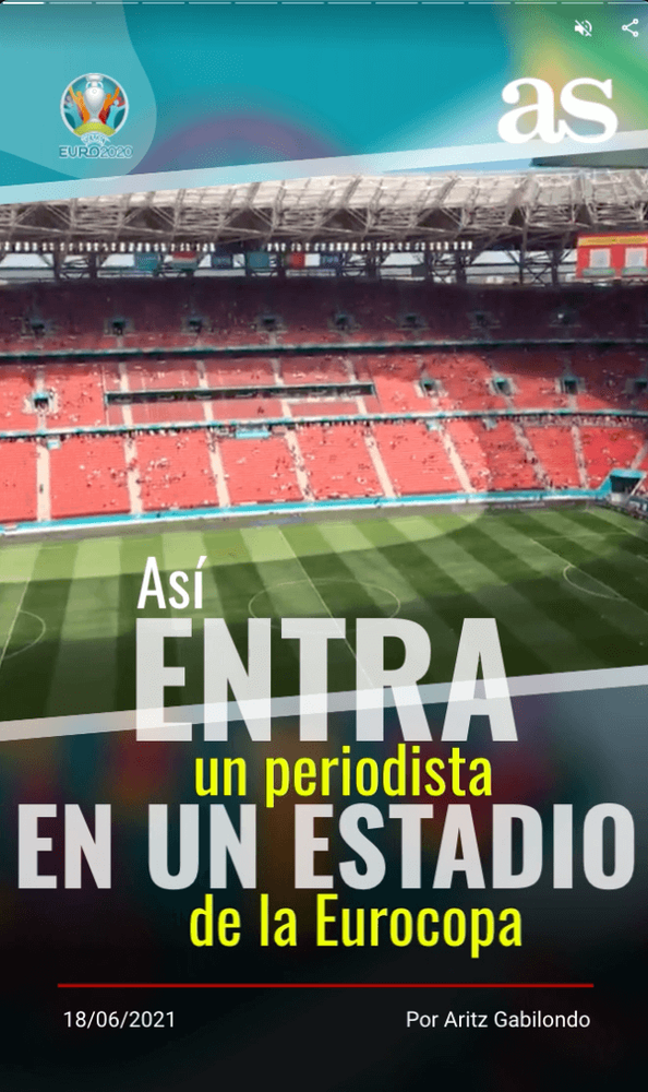 Title card from a Web Story that shows a large soccer stadium with red seats and an empty green field.