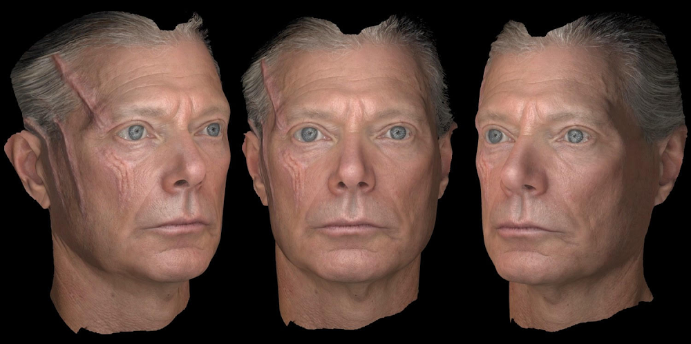 Avatar facial scans