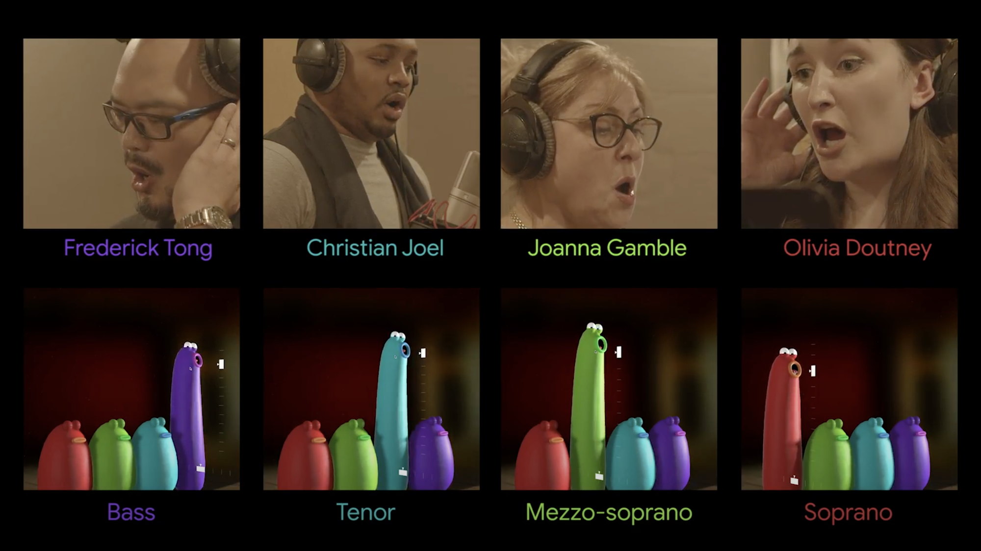 Create a festive song with Blob Opera
