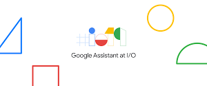 "An illustration and text that says, ""The Google Assistant at I/O."""