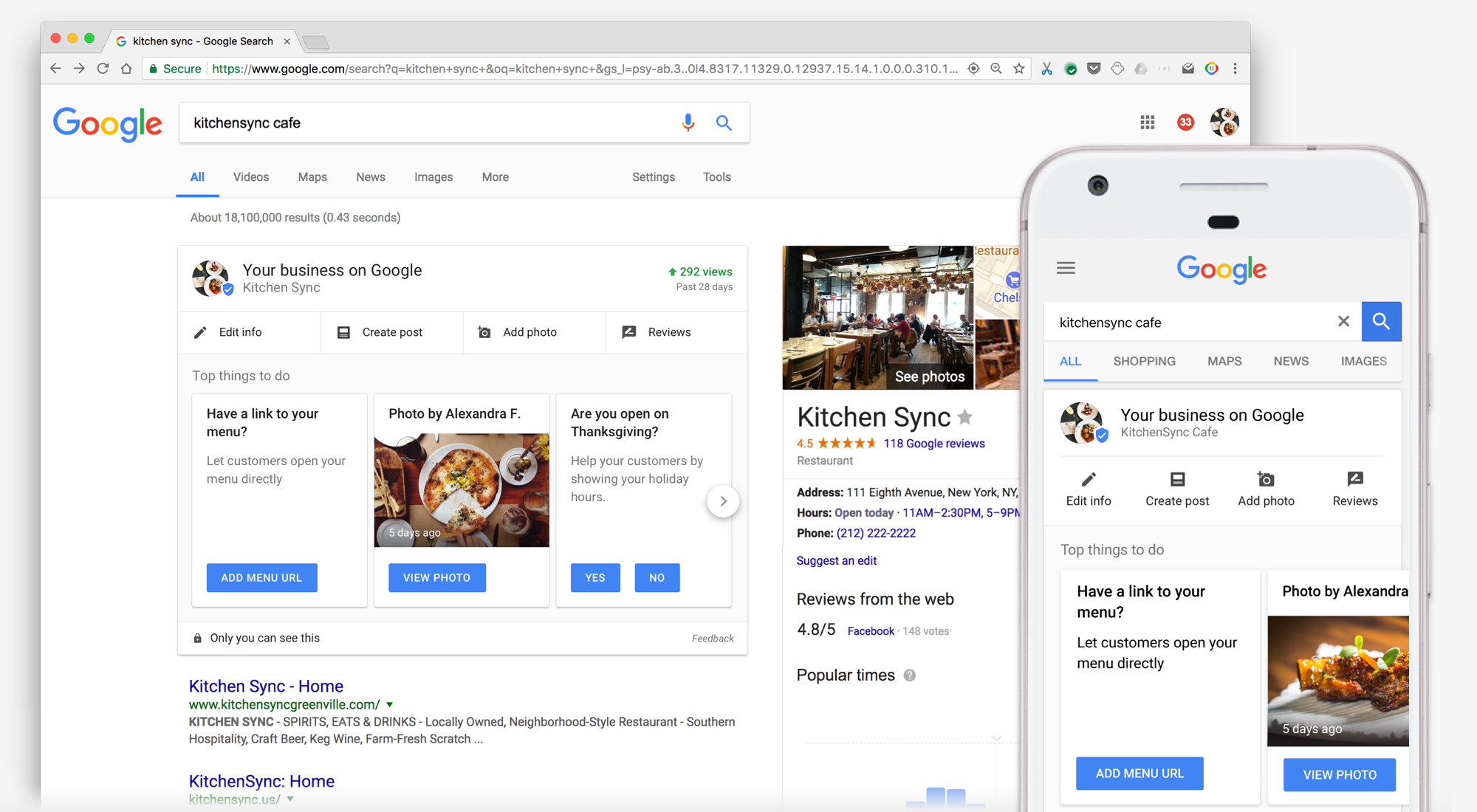Manage your corporation itemizing with out leaving Google Search