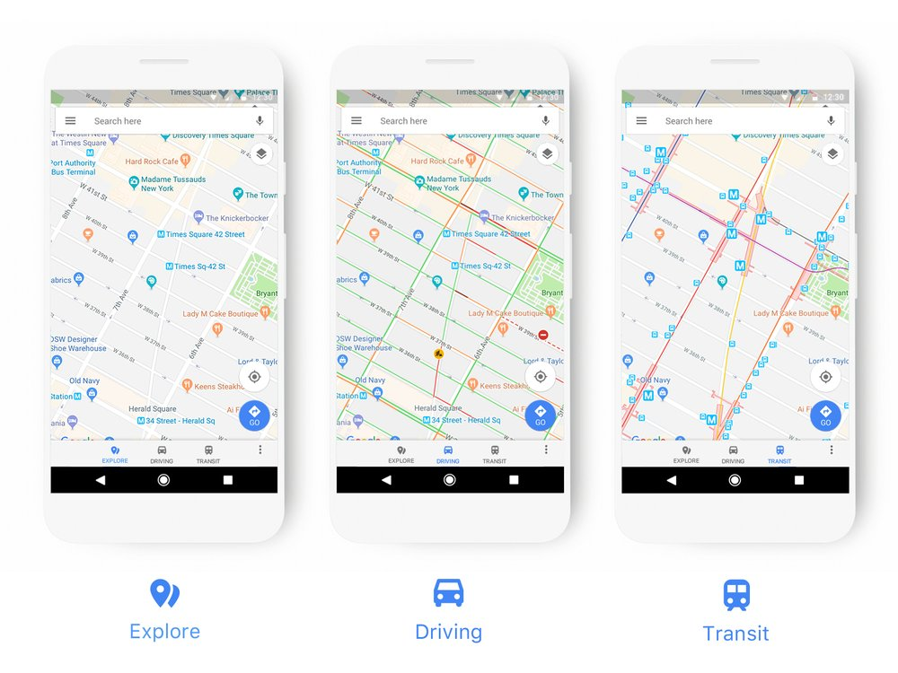 Google Maps Gets A New Look - Maps images