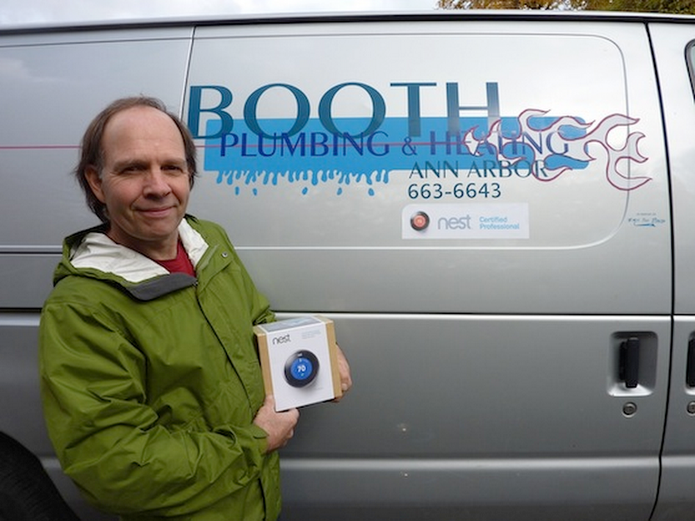 Nest Pro Jeff Booth shows off his Booth Plumbing and Heating truck