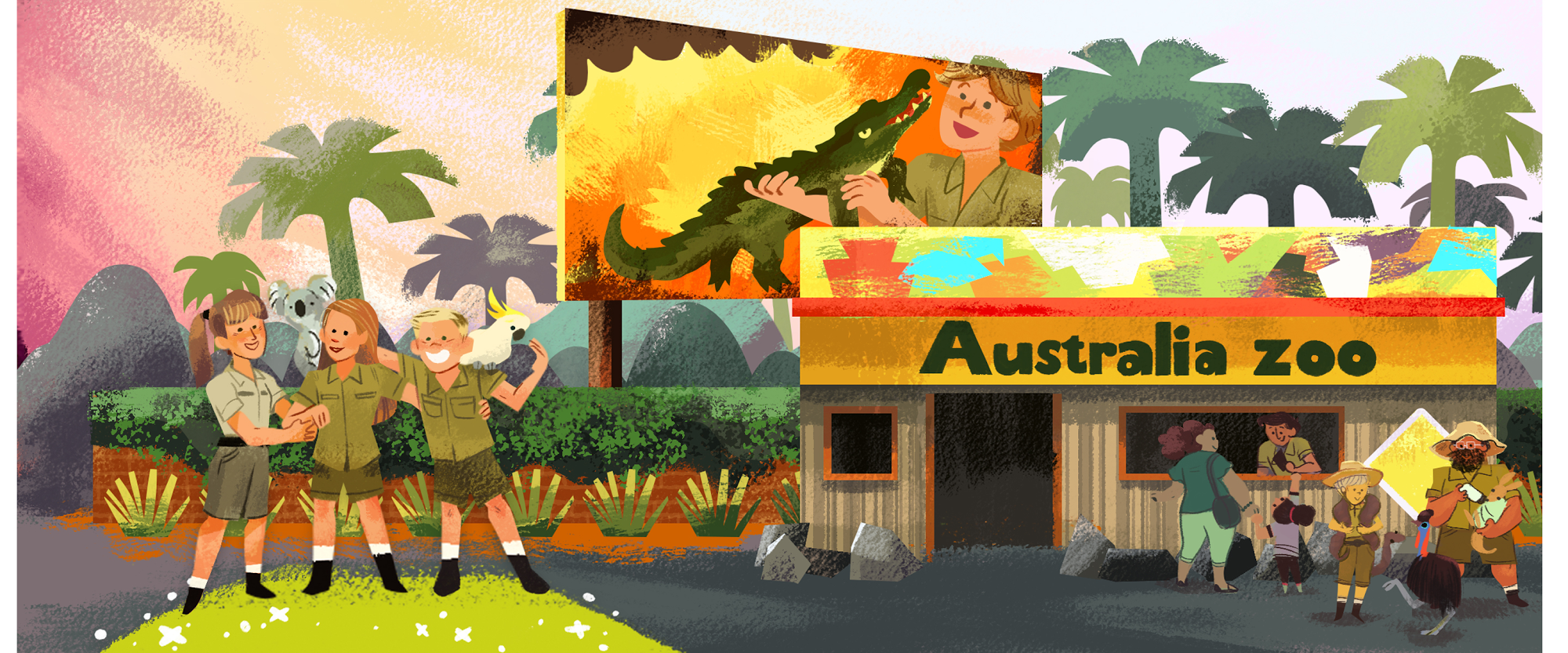 A Doodle honoring Steve Irwin: zookeeper, conservationist and father