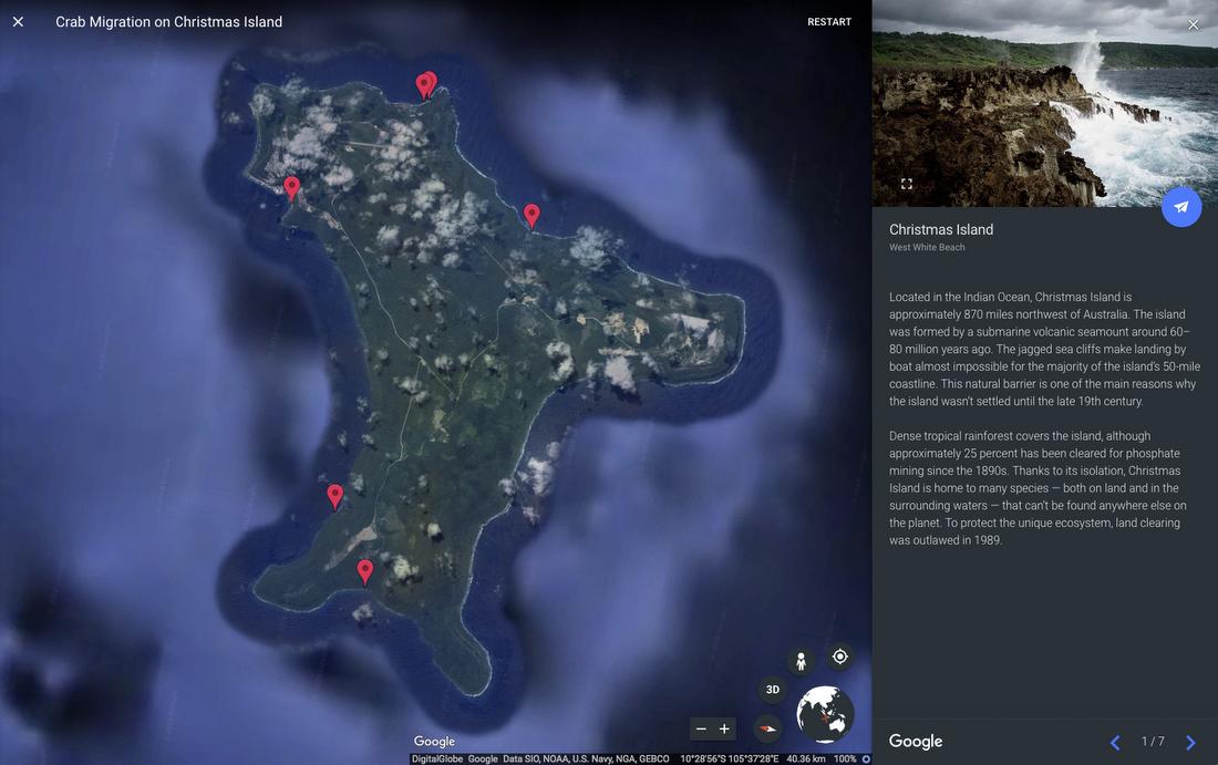 Shellebrating Christmas Island S Extraordinary Nature With Street