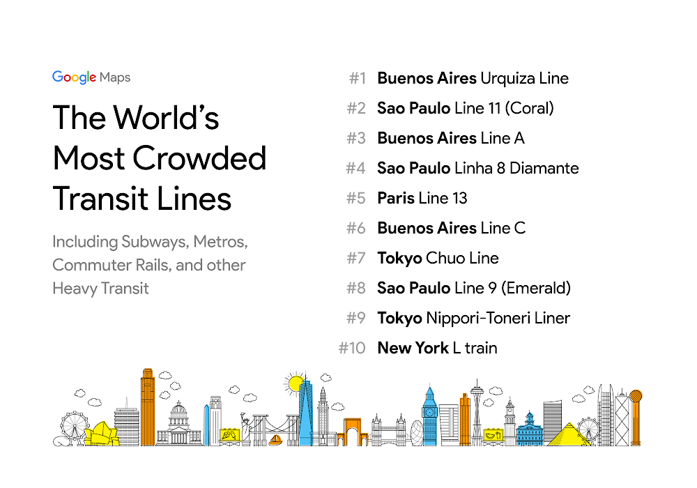 Ny Subway Map Google.Transit Crowdedness Trends From Around The World According To