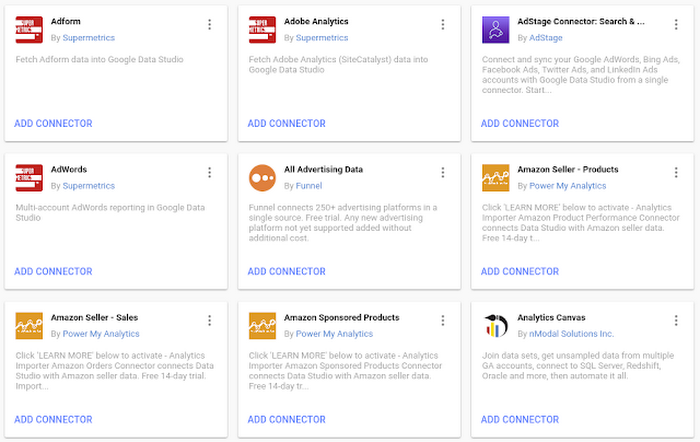 Access all of your data with Data Studio Community Connectors