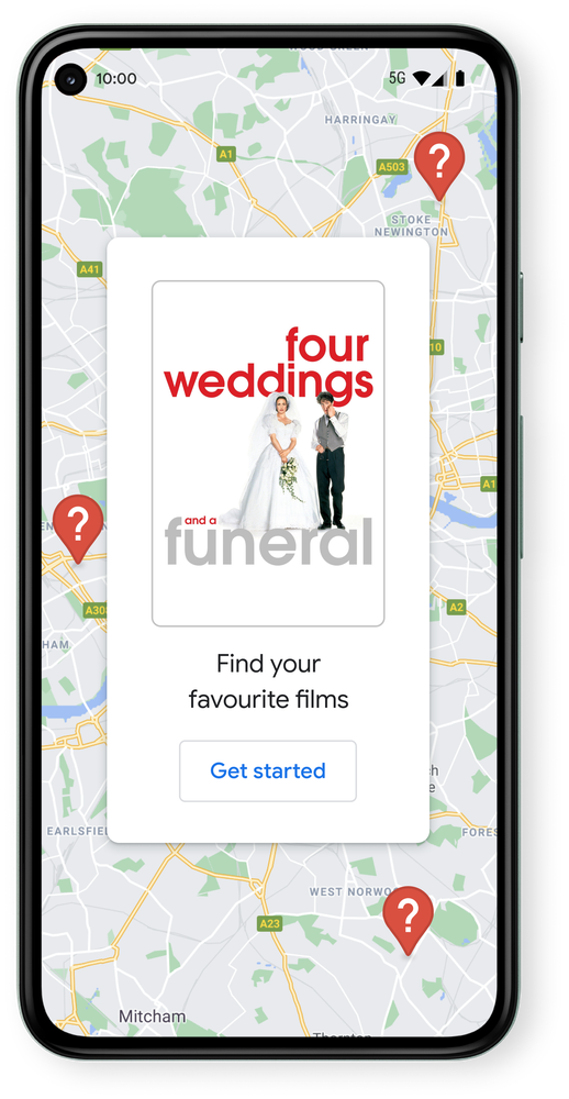 Image showing Four Weddings and a Funeral on a Pixel phone.