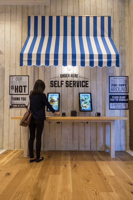 Famous Fish self service kiosks