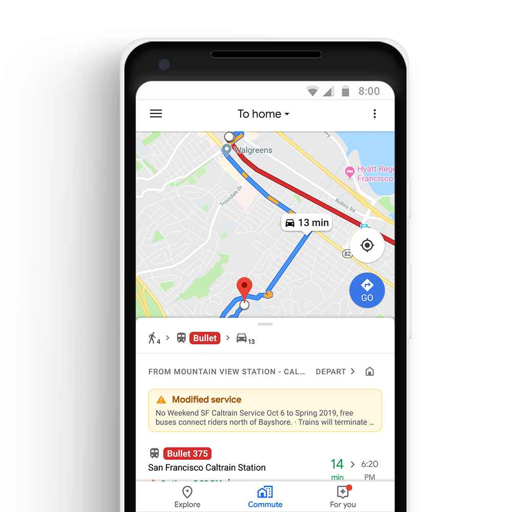 Take control of your commute with Google Maps on google maps russia, iphone map route, google points of interest, apple map route, world map route, google car route, united states map route, google plan route,