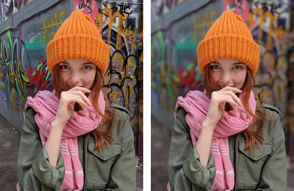 Mode Portrait pixel Google