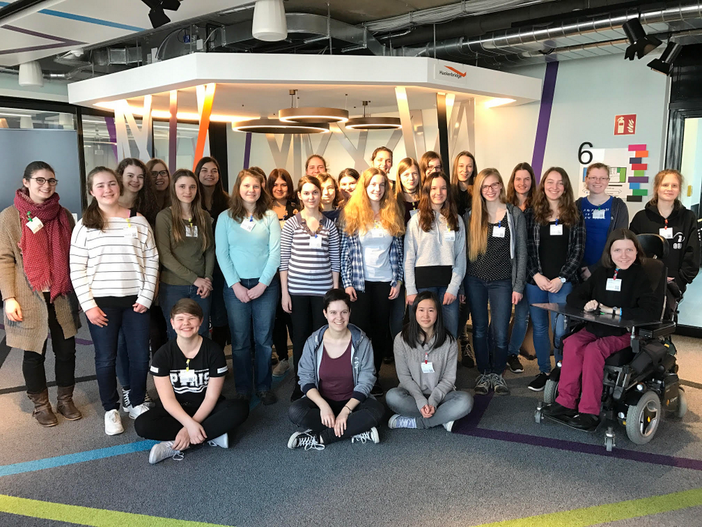BwInf participants, invited by Google to visit the Munich office.
