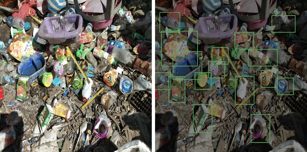 Identifying waste through AI powered image recognition