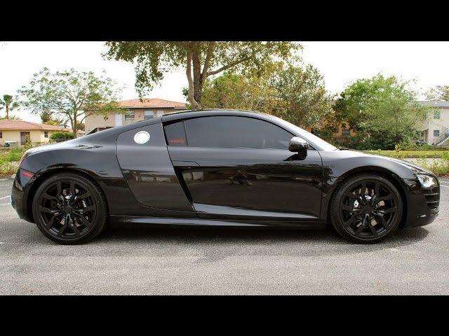 Gloss Black Plasti Dip Audi R8 Wheels
