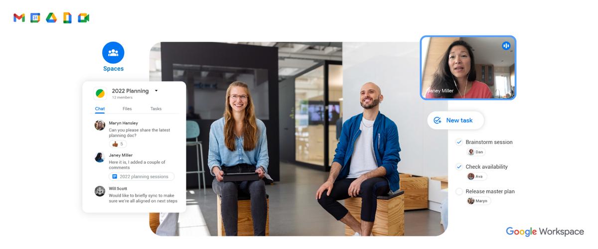 Hybrid work with Google Workspace