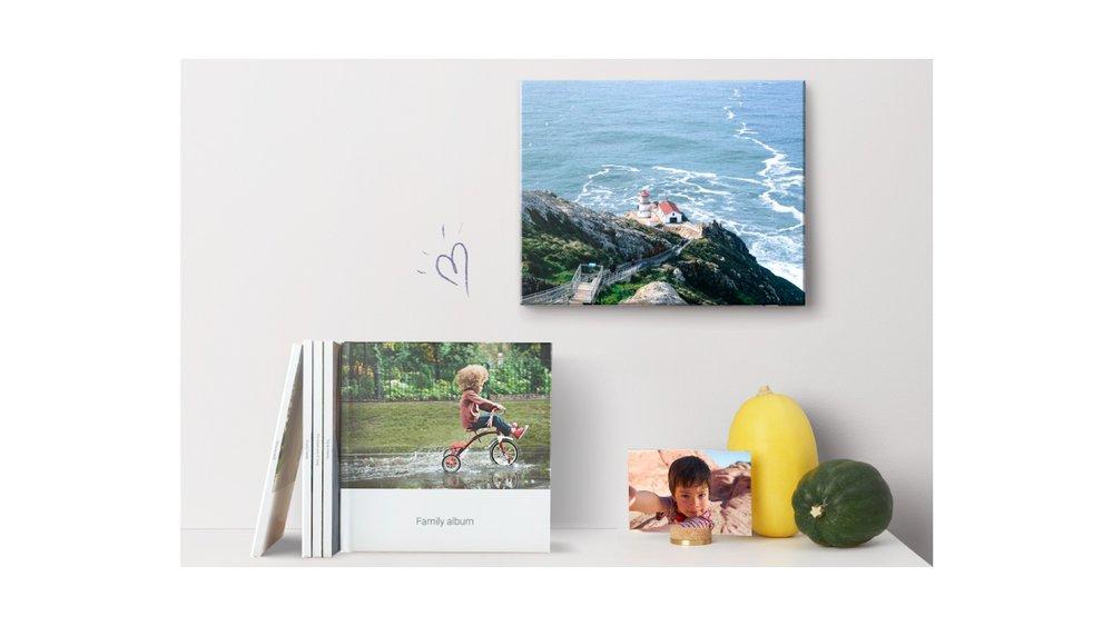 Google Photos printing products