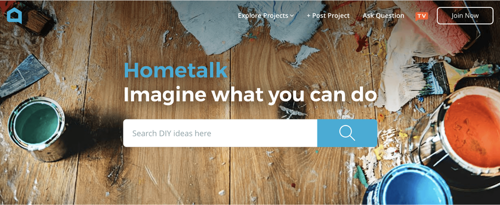 The search box at the top of Hometalk's website.