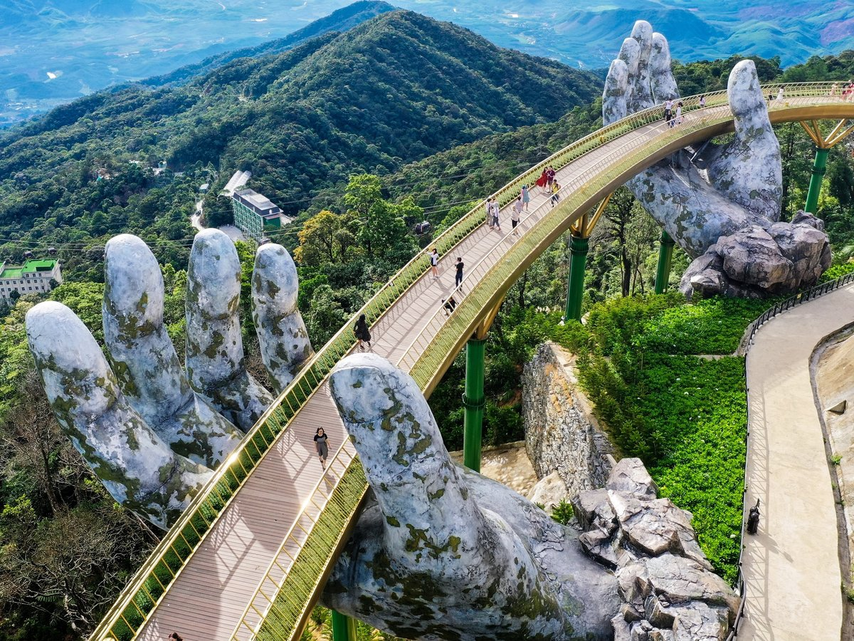 Golden Bridge, famous destination of Da Nang