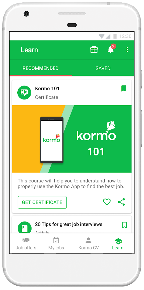 Kormo101training