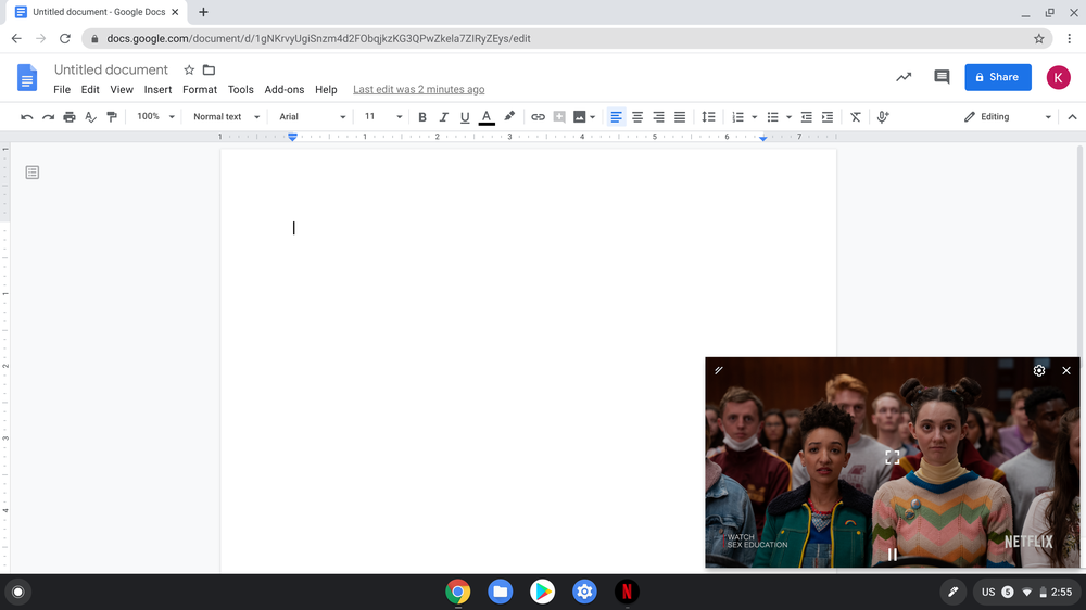 """Netflix """"picture-in-picture"""" on Chromebook"""