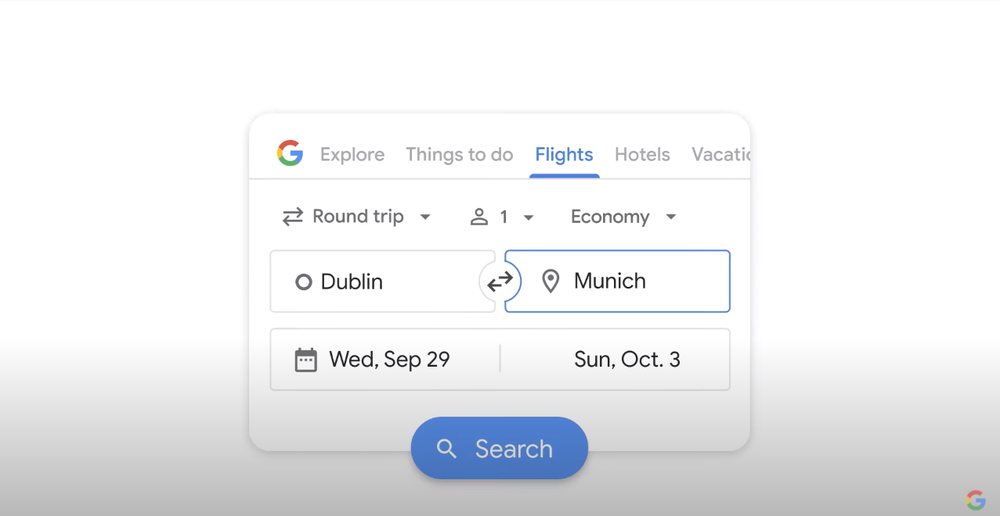 A video showing how Google's travel tools can help you find more sustainable hotel or flight options.