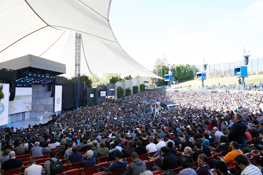 Attendees at Shoreline Amphitheatre in 2018.