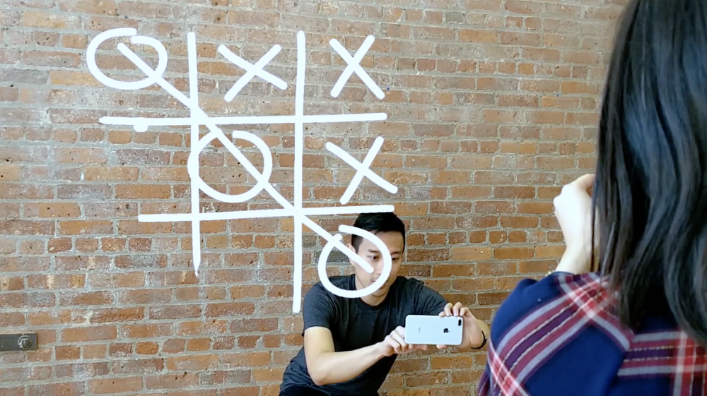 Just a Line: The first cross-platform collaborative AR app (for doodling)