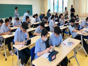 Students in a classroom in Japan