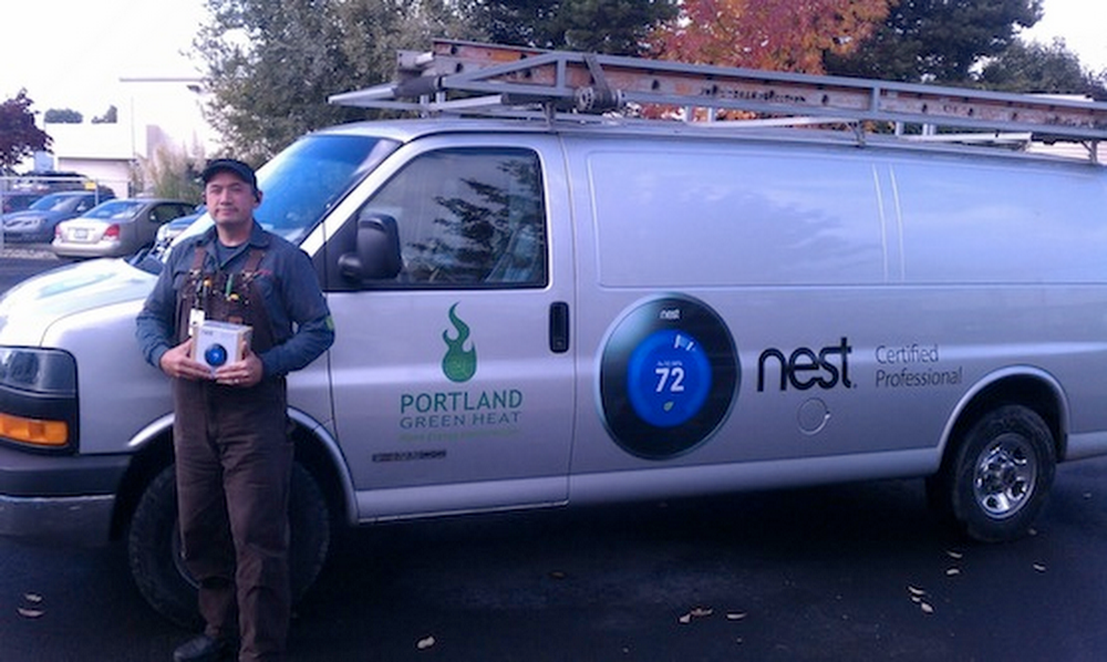 Nest Pro Juaning shows off his Portland Green Heat truck
